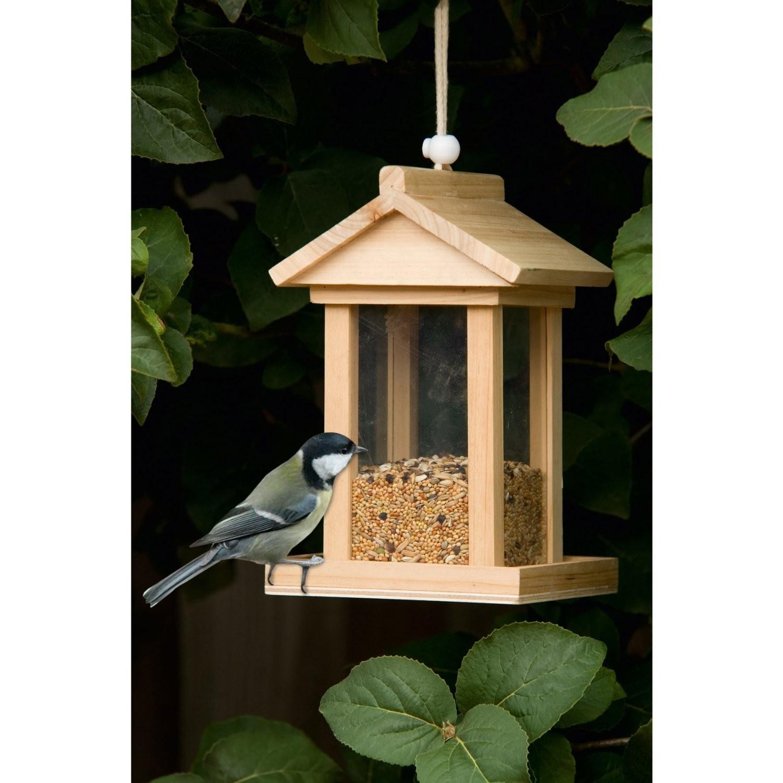 holz vogelh uschen vogelfutterhaus vogelfutter haus futterhaus futterspender ebay. Black Bedroom Furniture Sets. Home Design Ideas