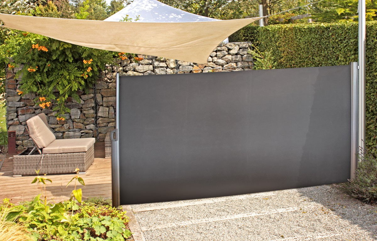 seitenmarkise sichtschutz windschutz sonnenschutz balkonf cher markise schutz ebay. Black Bedroom Furniture Sets. Home Design Ideas