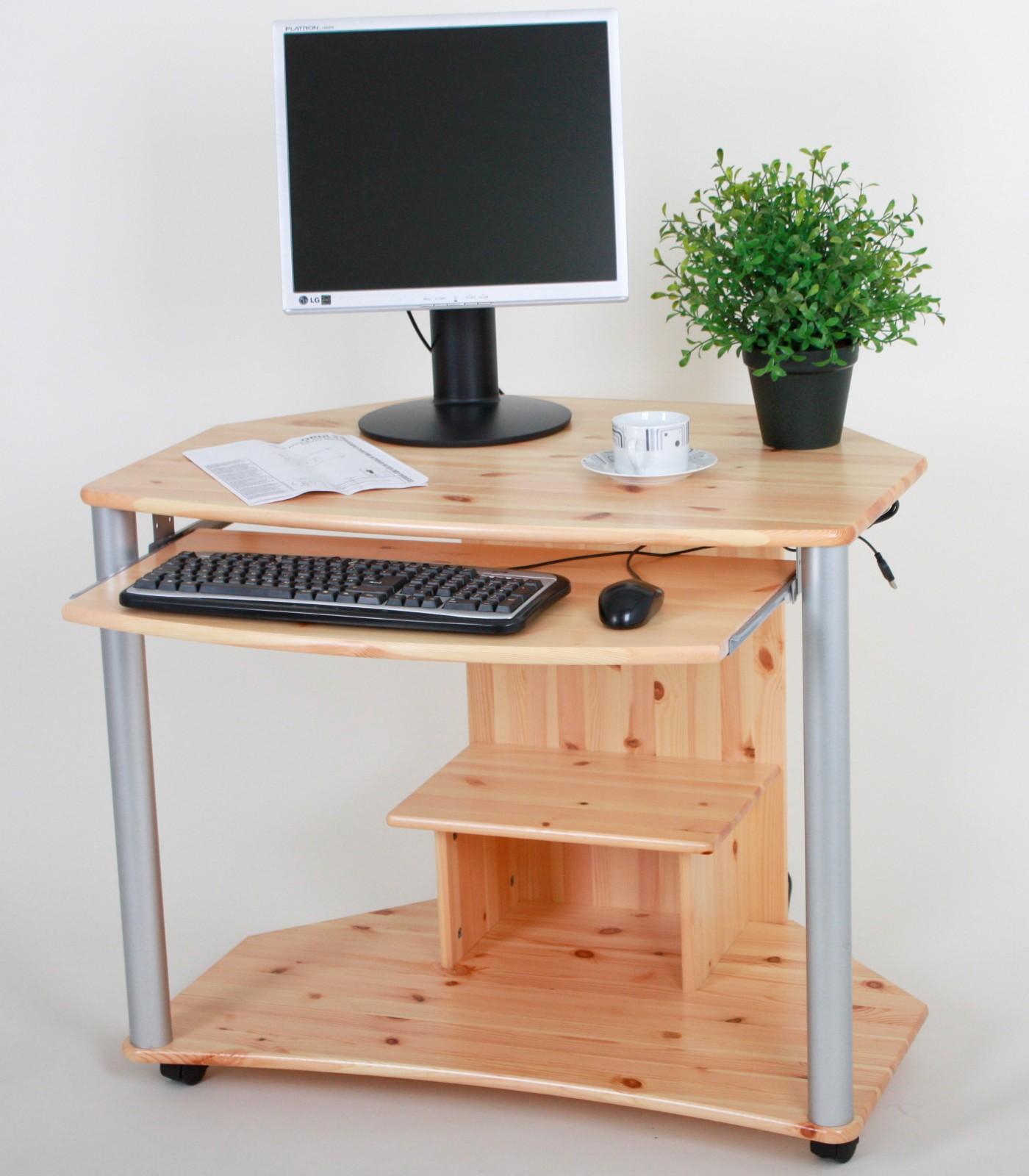 sehr sch n designter computertisch mit ausziehbarer platte und rollr dern die f e sind aus. Black Bedroom Furniture Sets. Home Design Ideas