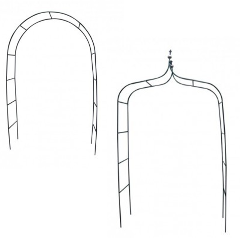 rosenbogen rankhilfe rankgitter rund f r garten in gr n. Black Bedroom Furniture Sets. Home Design Ideas