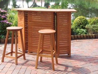 gartenm bel bartheke barhocker hocker gartenset aus holz hausbar bar theke ebay. Black Bedroom Furniture Sets. Home Design Ideas