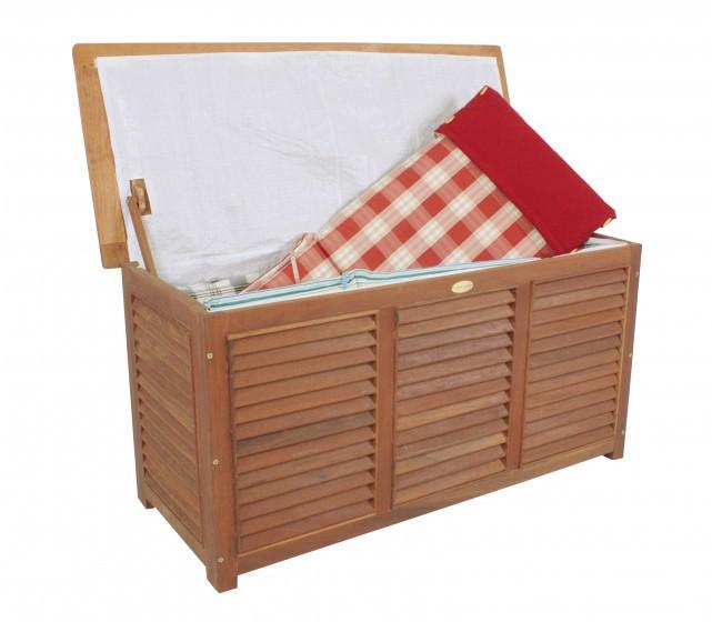 auflagenbox gartenbox kissenbox box gartentruhe garten truhe aus hartholz holz. Black Bedroom Furniture Sets. Home Design Ideas