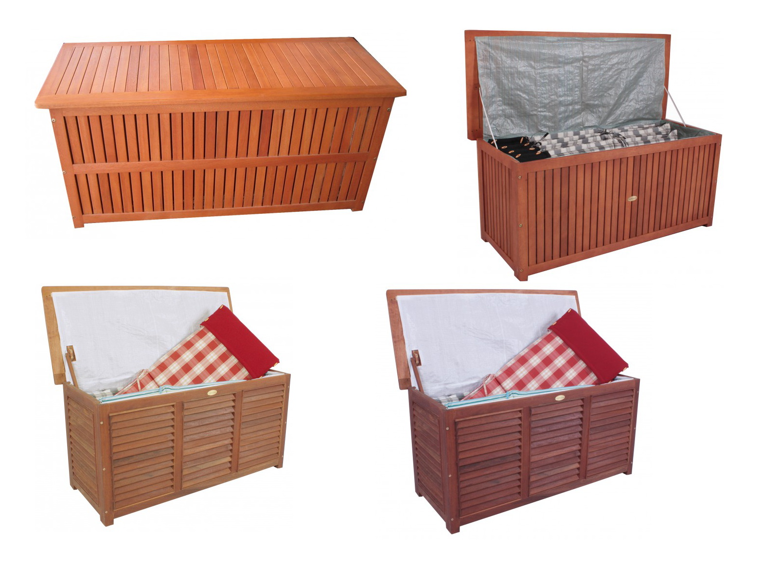 auflagenbox gartenbox kissenbox box gartentruhe garten truhe aus hartholz holz ebay. Black Bedroom Furniture Sets. Home Design Ideas