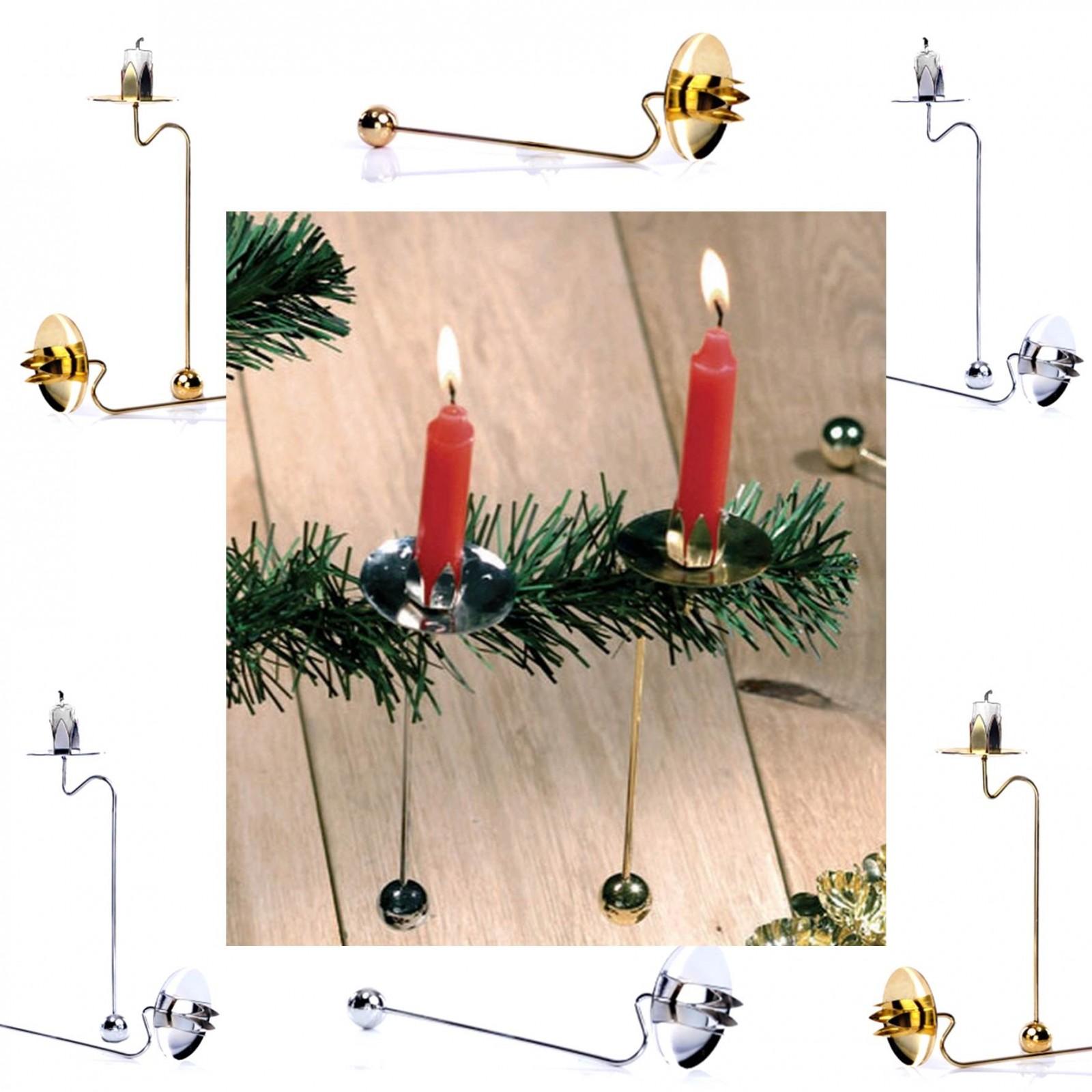 12er set kerzenhalter balancekerzenhalter baumkerzenhalter gold silber chrom ebay. Black Bedroom Furniture Sets. Home Design Ideas